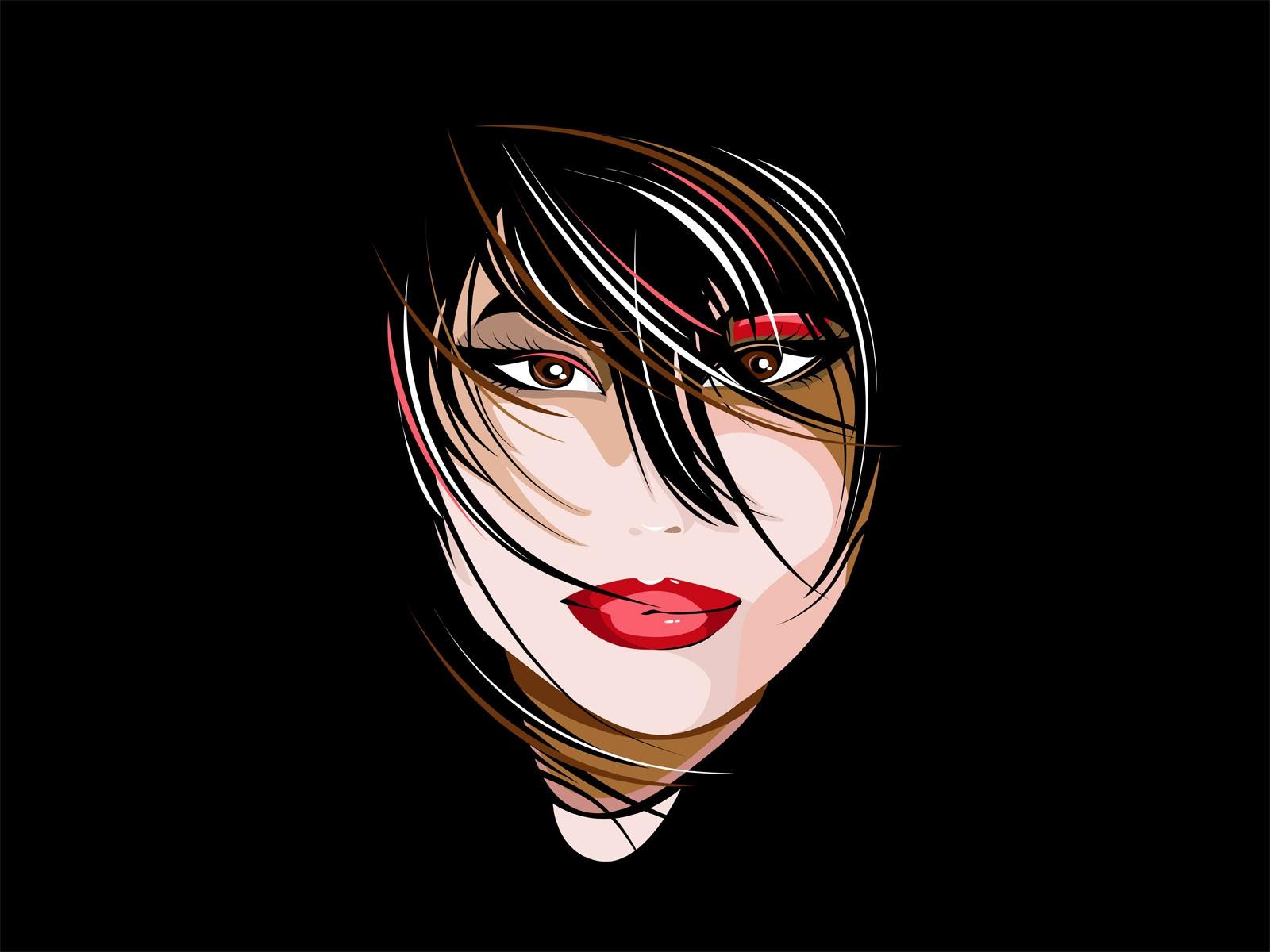 Wallpaper Menghadapi Ilustrasi Wanita Anime Karya Seni Gambar