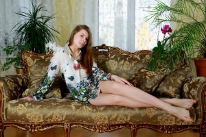 Download photo 1366x768, katya clover, brunette, outdoor