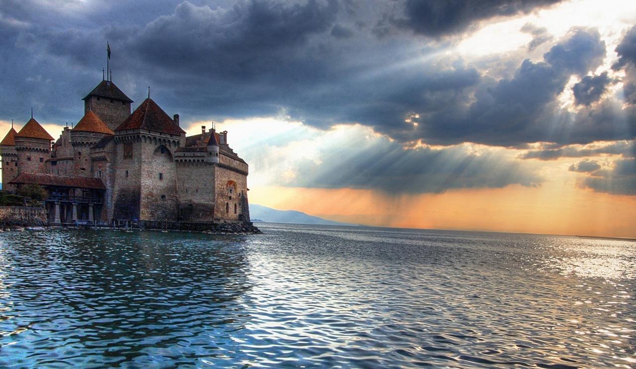 Sfondi paesaggio tramonto mare lago acqua for Foto full hd per desktop