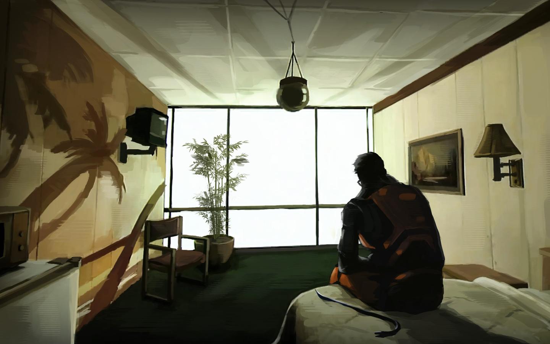 Wallpaper Room Artwork Valve Portal Game Half Life