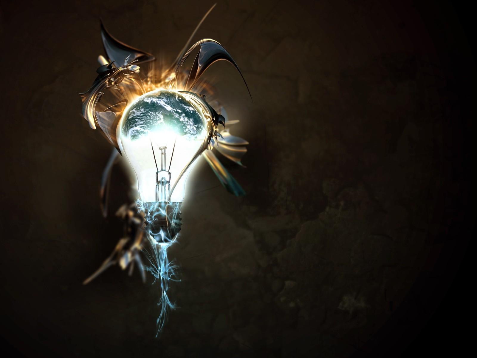дачном абстрактные картинки лампа свет эрнст