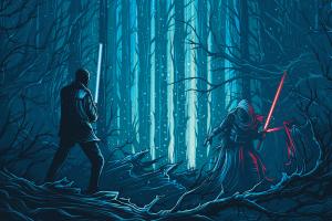 Star Wars Star Wars The Force Awakens Kylo Ren Dan Mumford artwork concept art lightsaber science fiction 52765