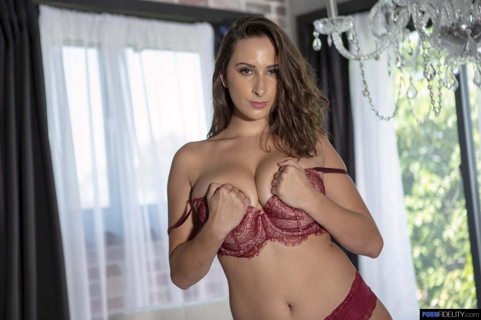 Wallpaper : Ashley Adams, pornstar, red lingerie, hands on