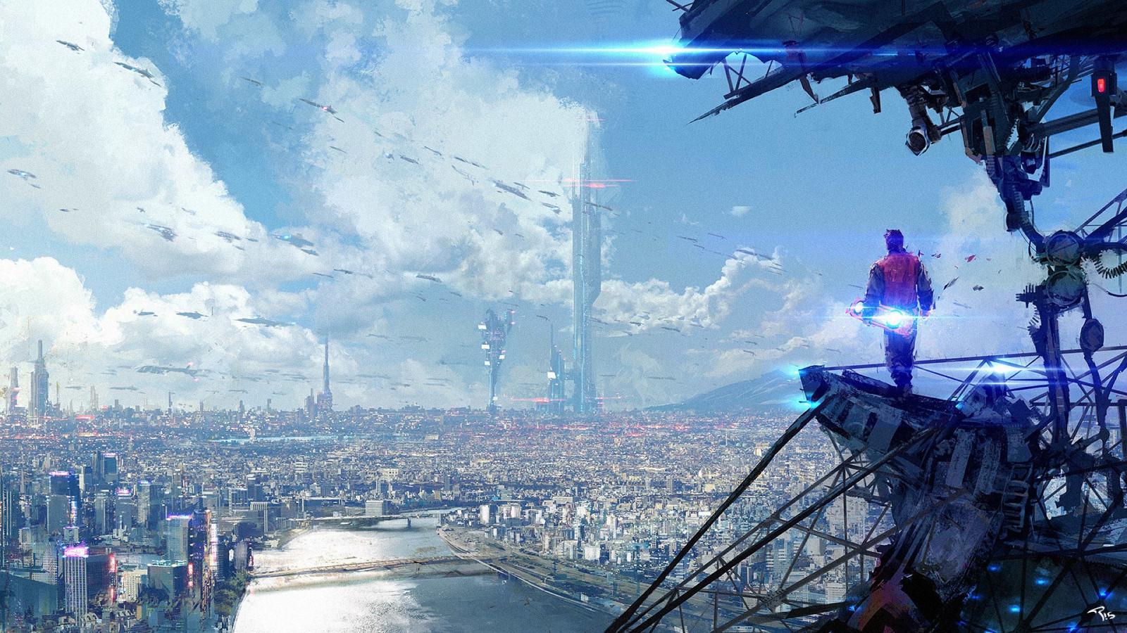 cityscapes futuristic wallpaper 1900x1041 - photo #7