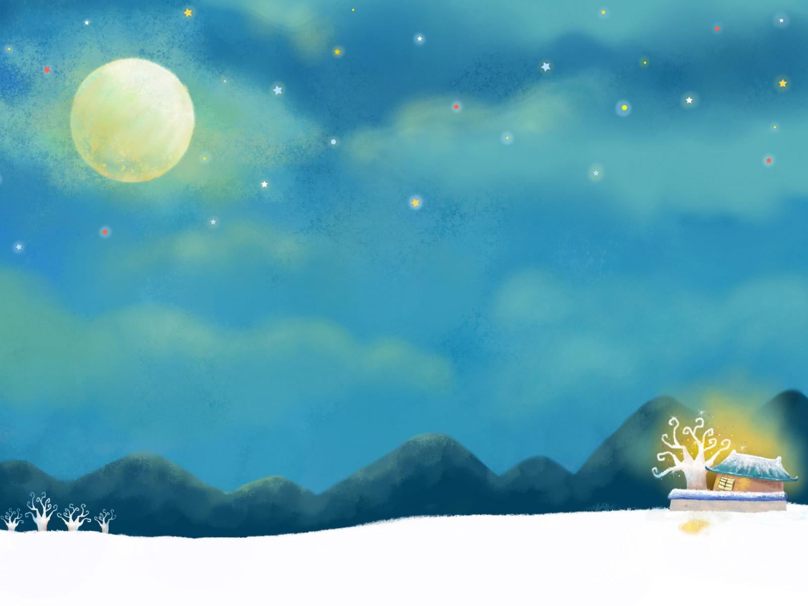 Ночное небо рисунок для детей, крещению ребенка