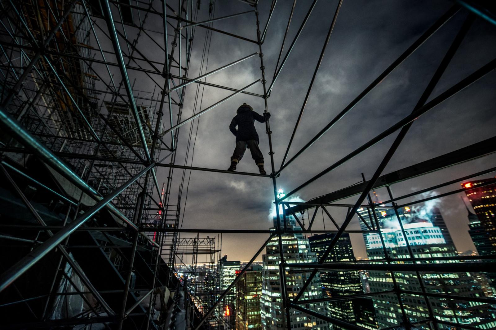 Wallpaper Rooftop Scaffolding Batman Heights