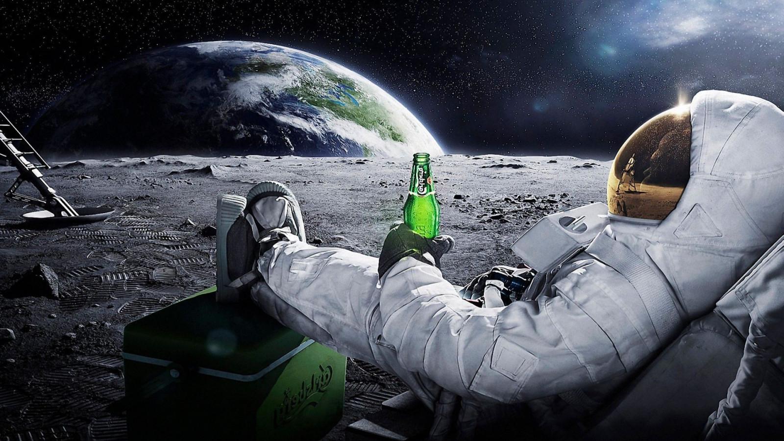 Fondos De Pantalla : 1920x1080 Px, Astronauta, Cerveza