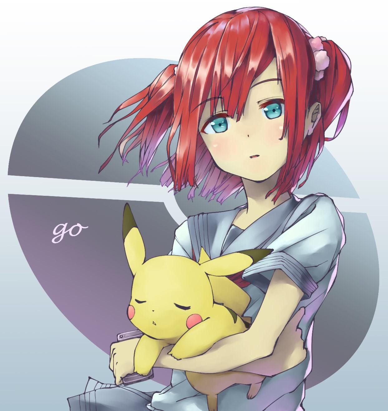 デスクトップ壁紙 : 図, 赤毛, アニメの女の子, ショートヘア, クロス