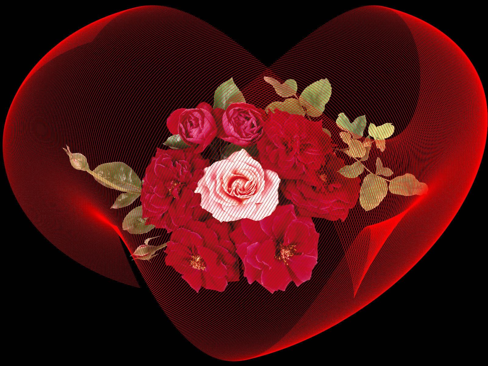 Цветы и сердечки картинки классные анимация, спокойной