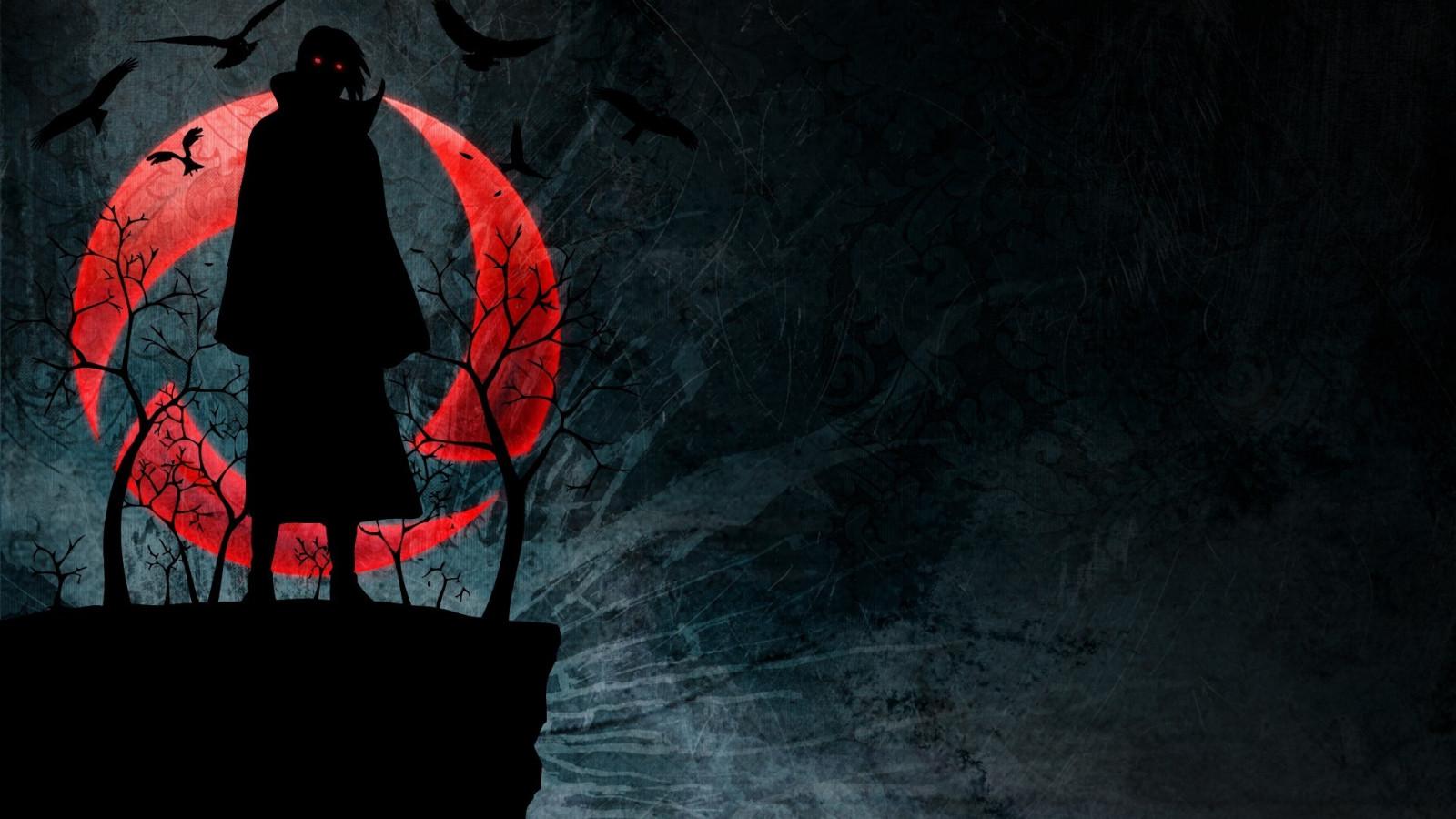 Silhouette Naruto Shippuuden Sharingan Akatsuki Uchiha Itachi Darkness Screenshot 1920x1080 Px Computer Wallpaper