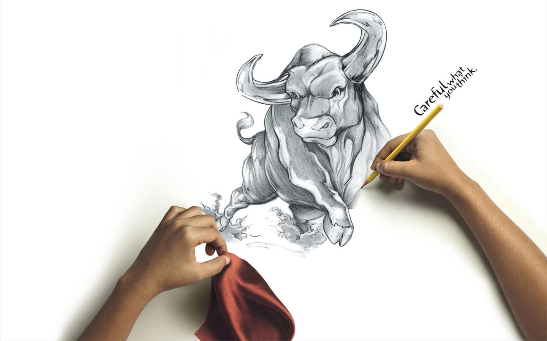 Sfondi disegno illustrazione cartone animato toro mano