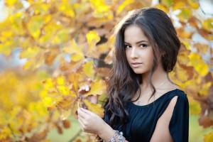 Wallpaper Model Brunette Long Hair Face Portrait