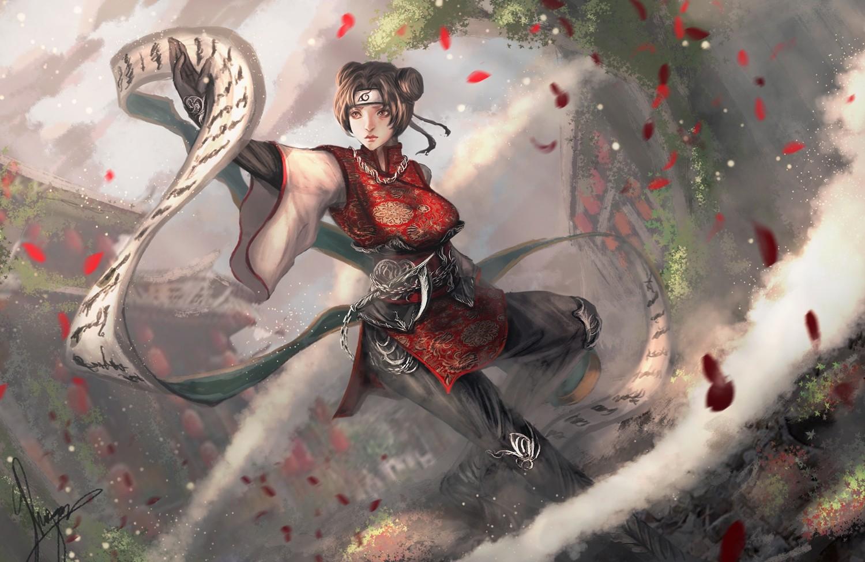 Fantasy Art Anime Naruto Shippuuden Scrolls Mythology Kunoichi Tenten Screenshot