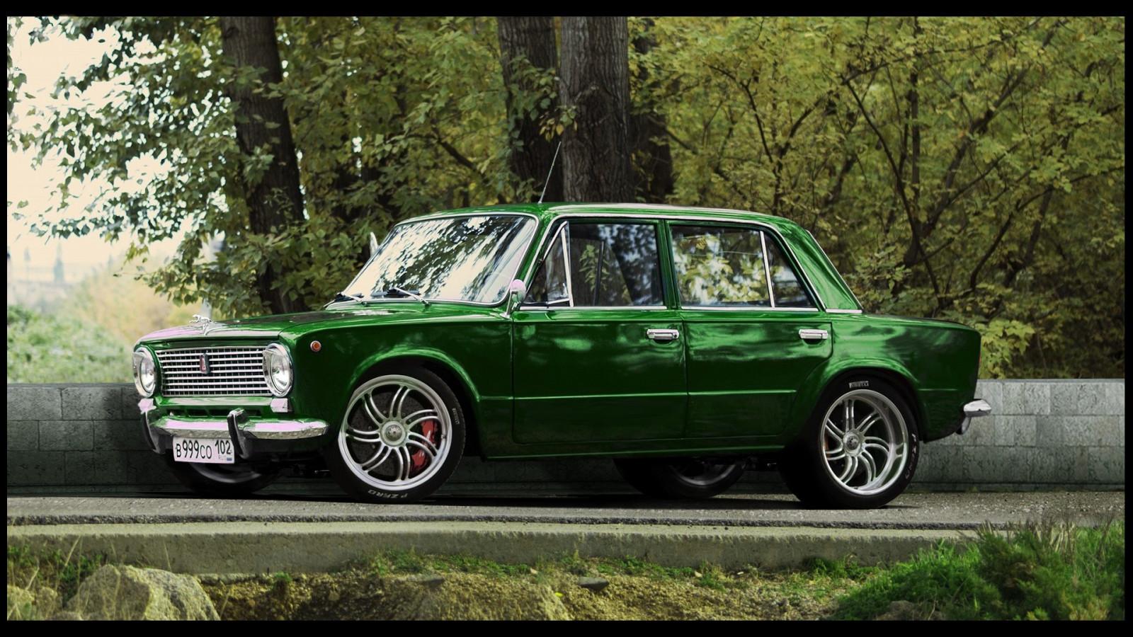Car Vehicle LADA Sports Car Green Cars Convertible Sedan Land Vehicle  Automobile Make Luxury Vehicle Family