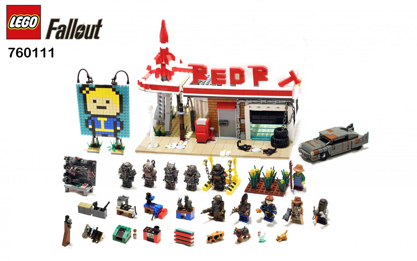 Fond d 39 cran rouge gare puissance lego garage 4 for Panneau publicitaire garage automobile