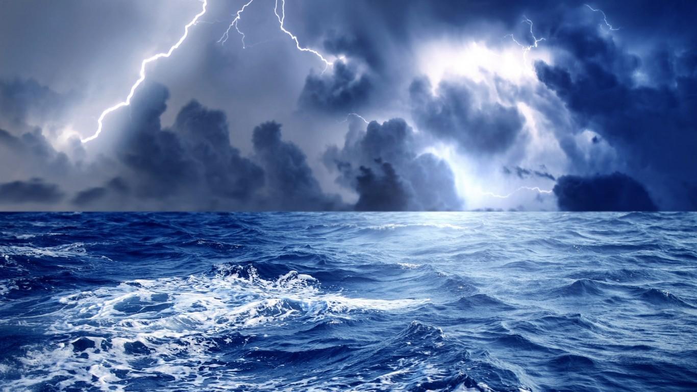 デスクトップ壁紙 空 ライトニング 嵐 海岸 地平線 雰囲気 雲