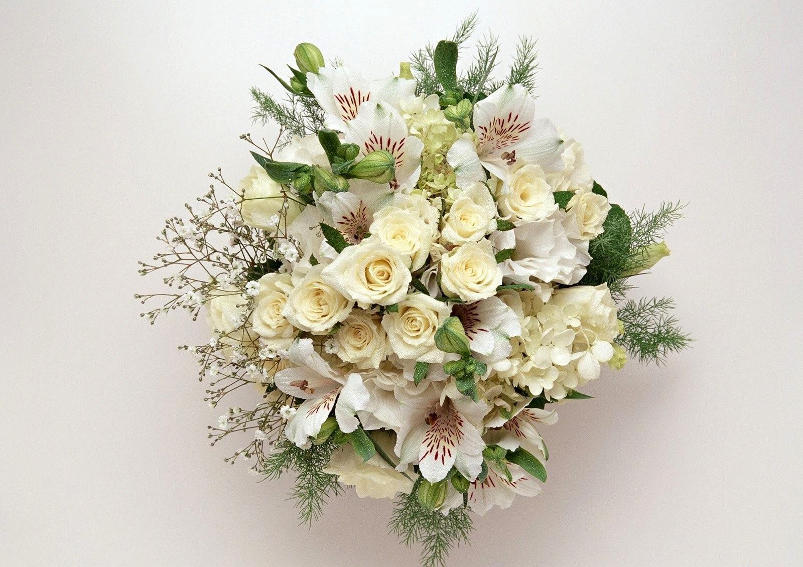 Wallpaper Roses Alstroemeria Flowers Babys Breath Bouquet Design Tender 1600x1130 Wallpaperup 1069233 Hd Wallpapers Wallhere