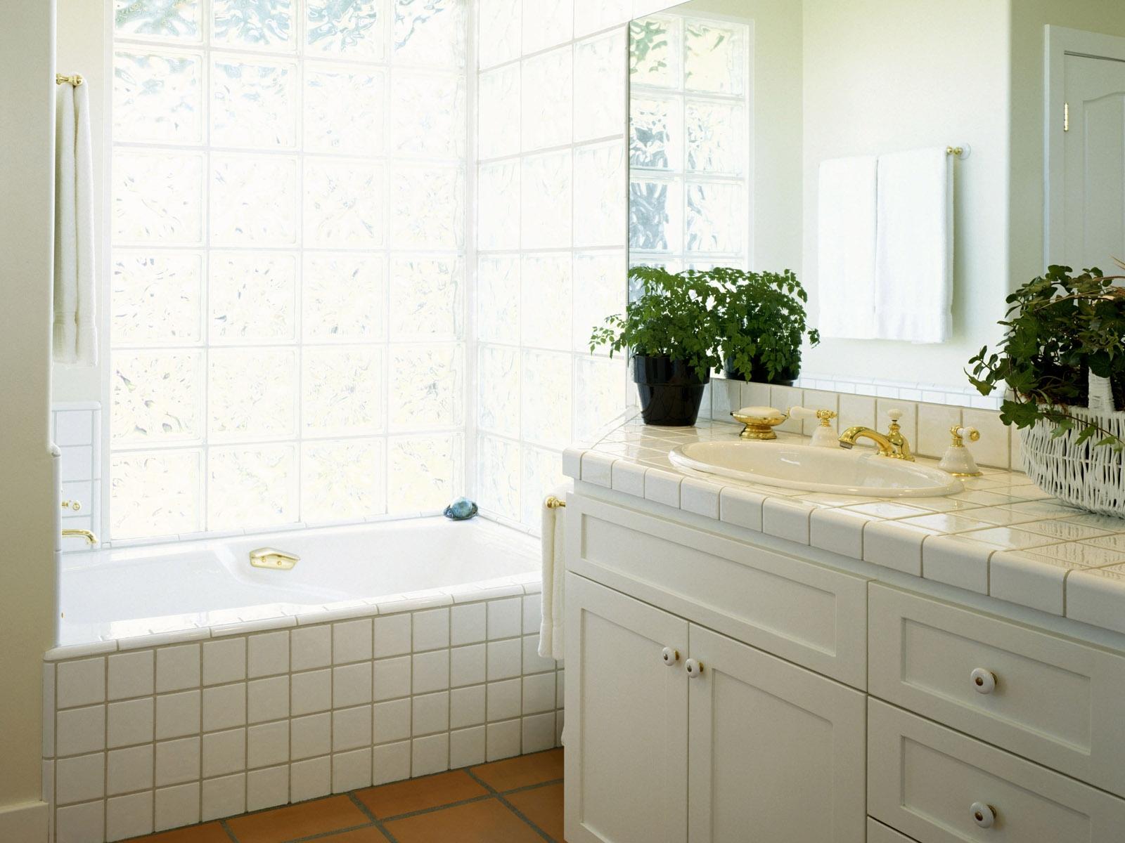 Sfondi fiori camera vasca da bagno piastrelle interior