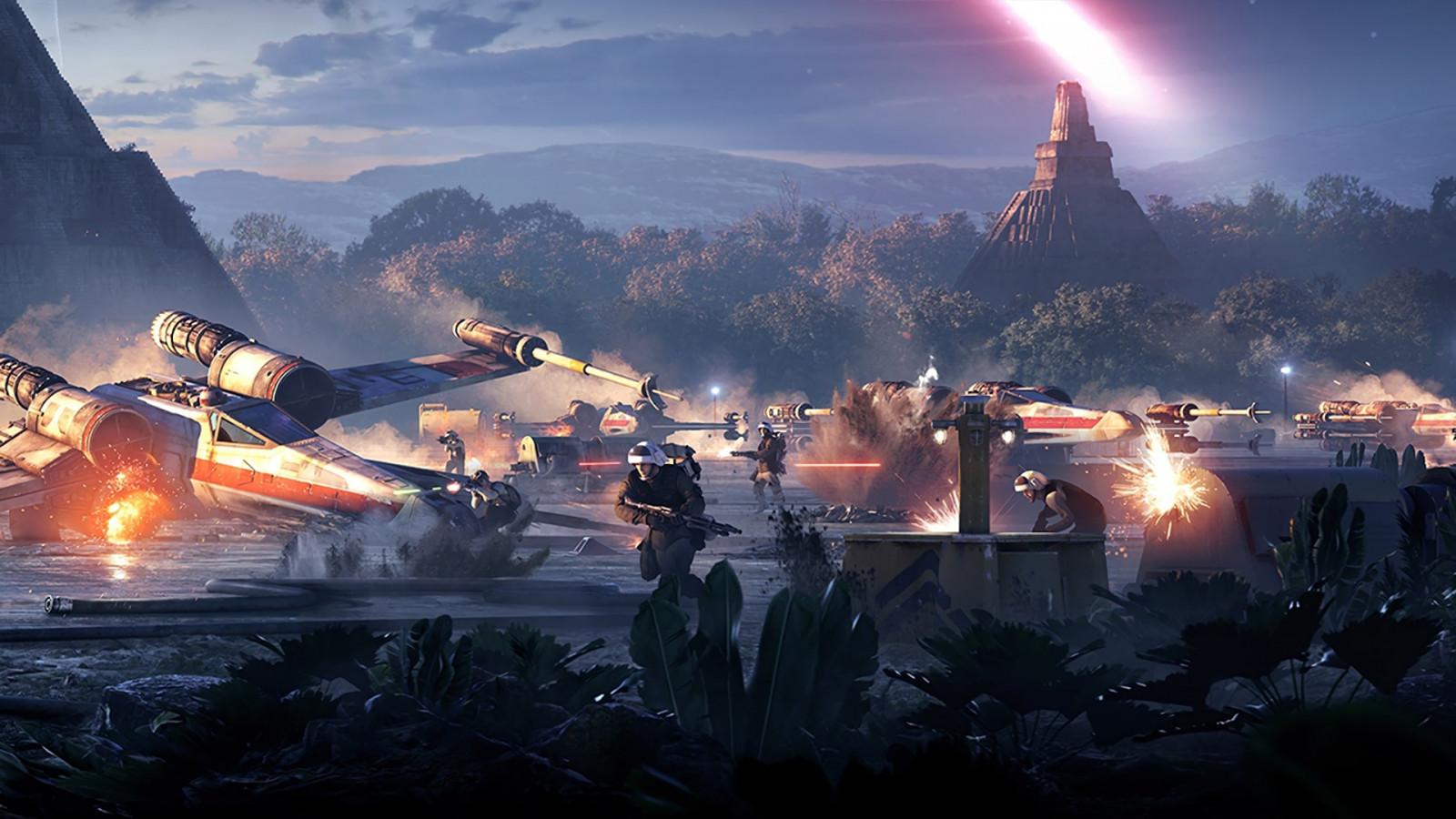 Wallpaper Star Wars Battlefront Ii Star Wars Video Games X Wing