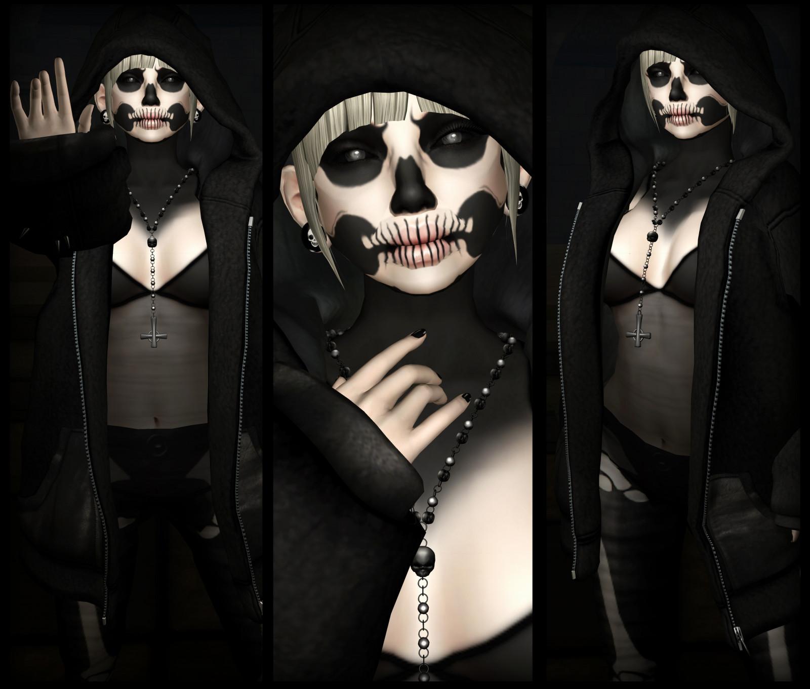 Hintergrundbilder : schwarz, Horror, 3D, gespenstisch, Mode, Schädel ...