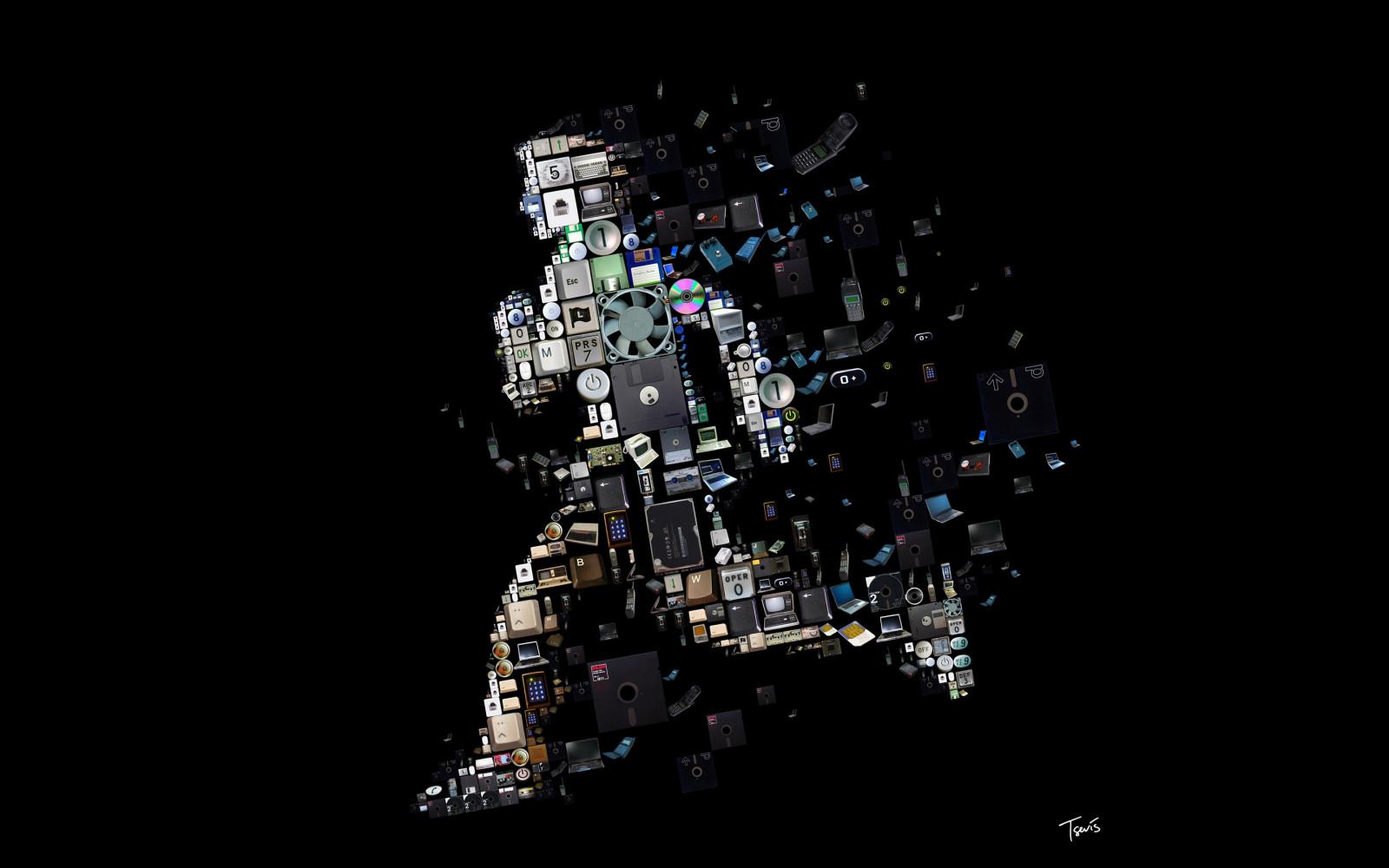 Sfondi Uomini Arte Digitale Sfondo Nero Notte Spazio Numeri