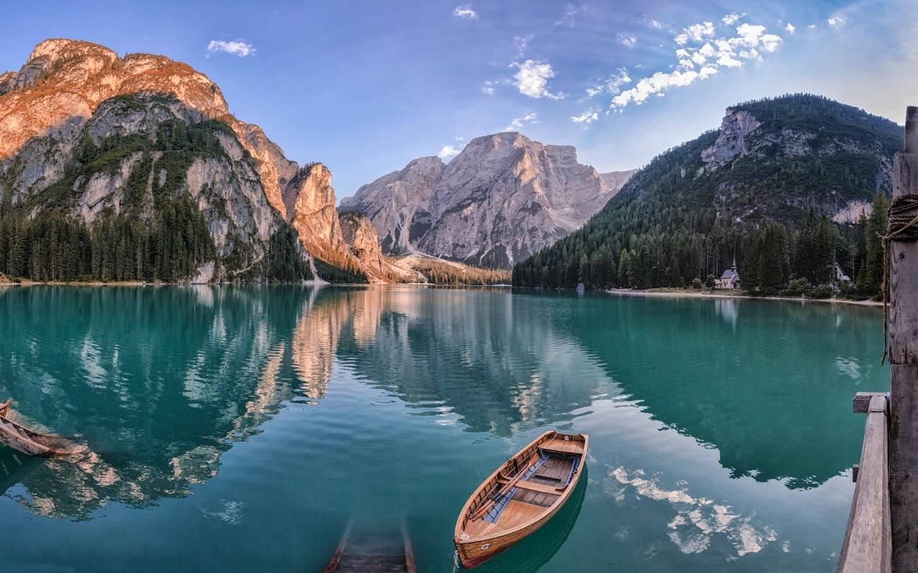 Fond d'écran : paysage, forêt, Montagnes, bateau, mer, Italie, baie, Lac, eau, la nature ...