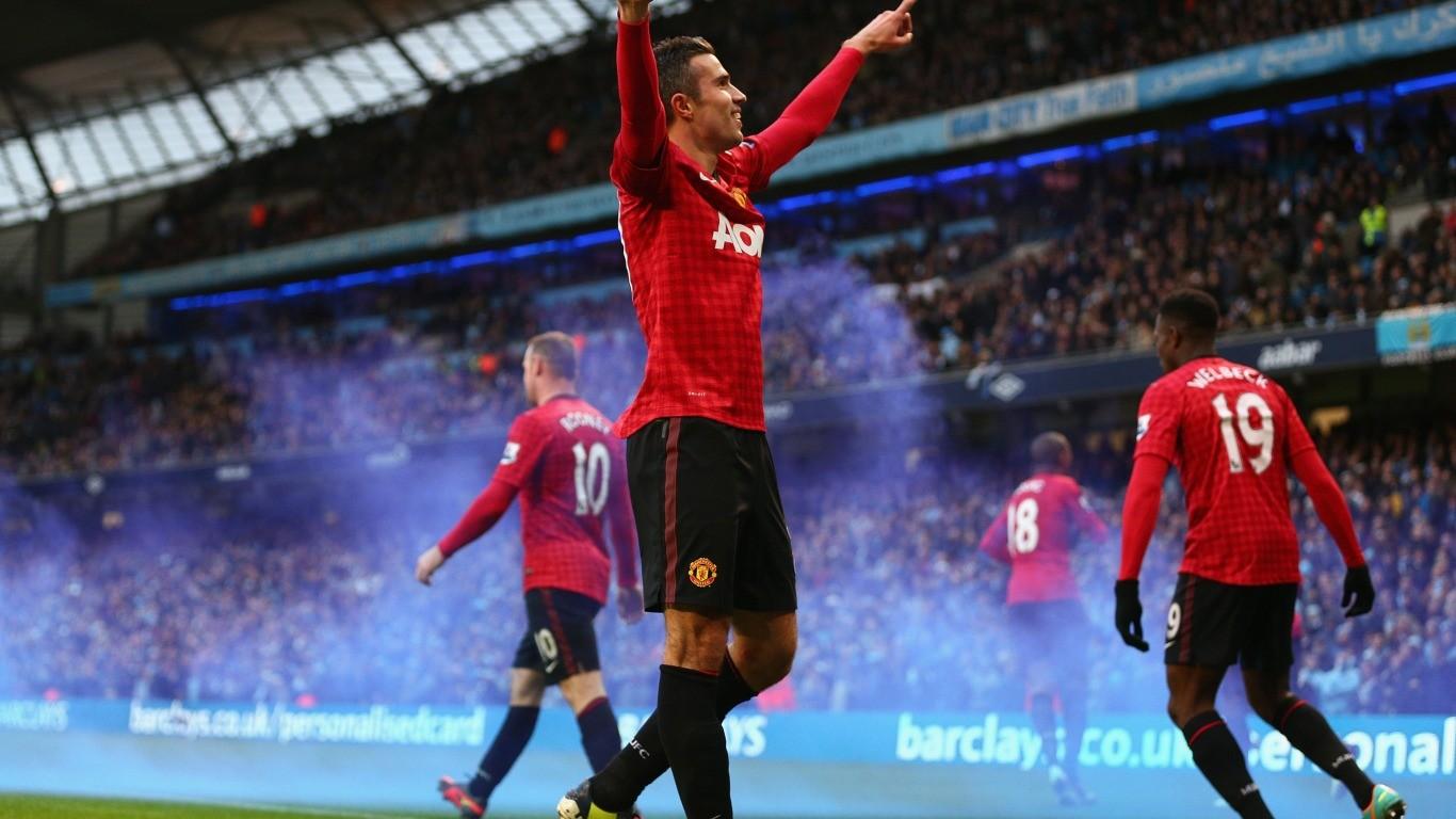 Wallpaper Sepak Bola Robin Van Persie Manchester United
