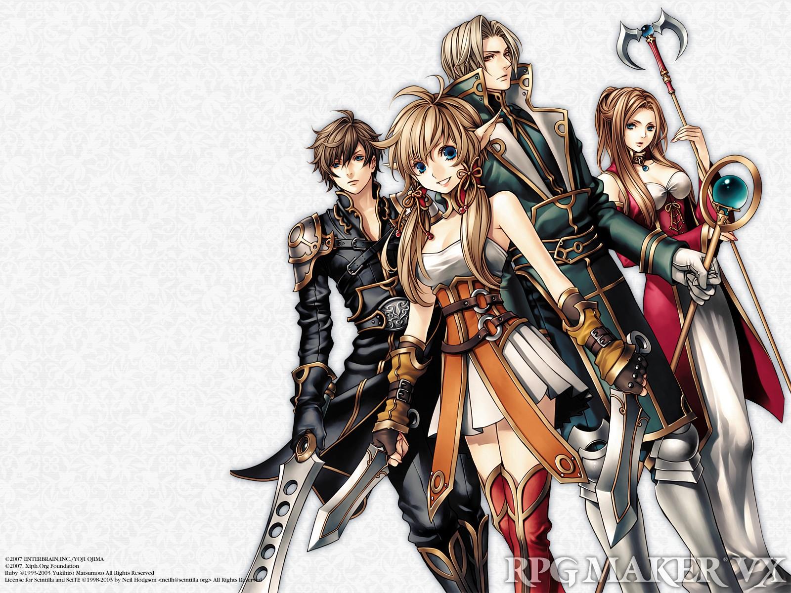 Wallpaper : anime, comics, Person, RPG Maker, sketch