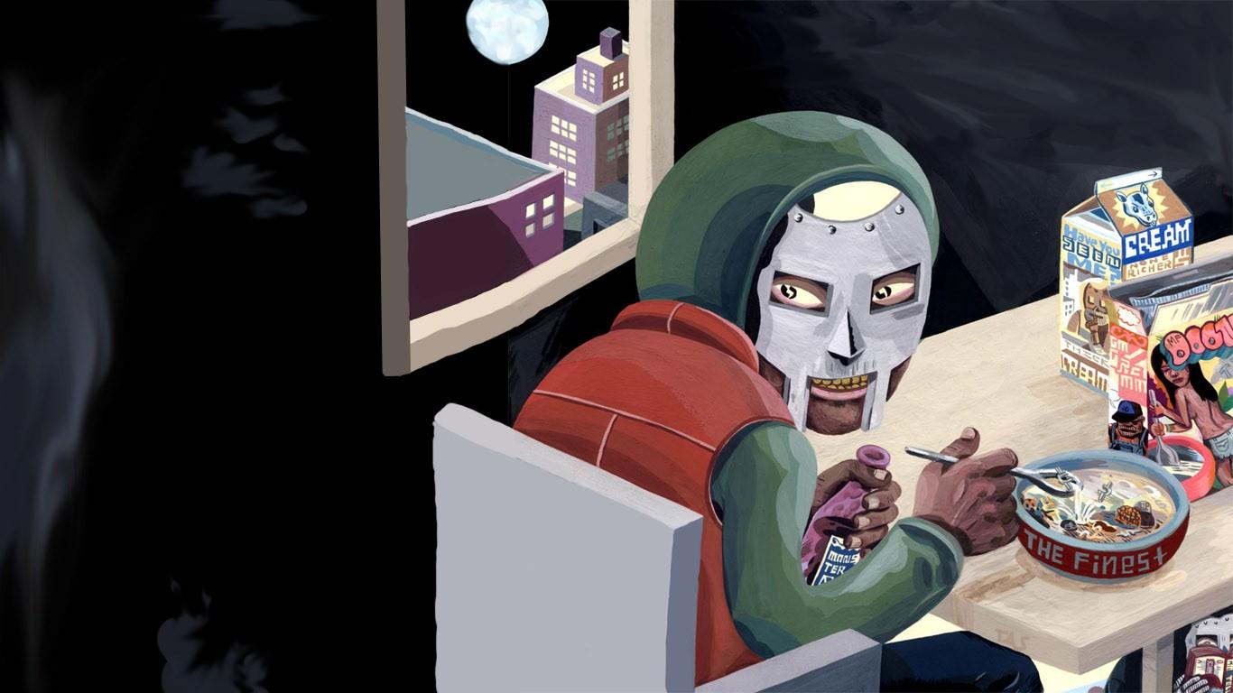 ilustración Anime máscara música hip hop dibujos animados Portadas de  álbumes historietas MF DOOM captura de