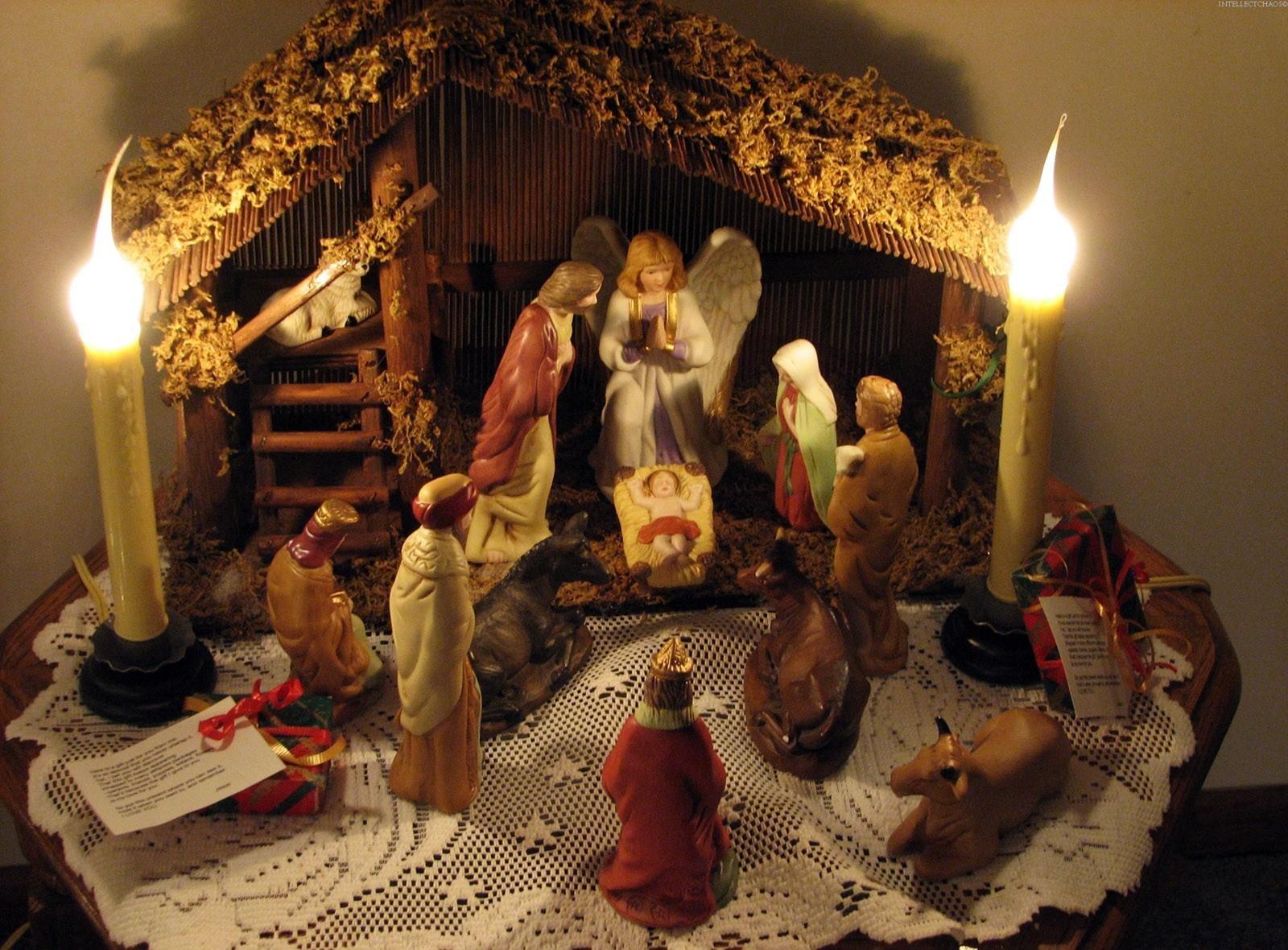 Картинки с рождественским вертепом, день рождения торт