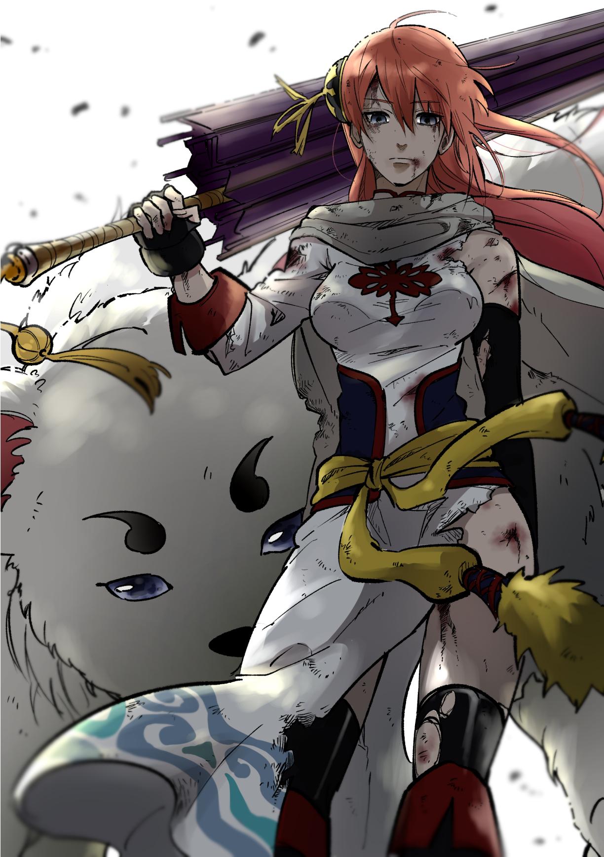 デスクトップ壁紙 アニメの女の子 神楽銀魂 サダハル 1224x1736