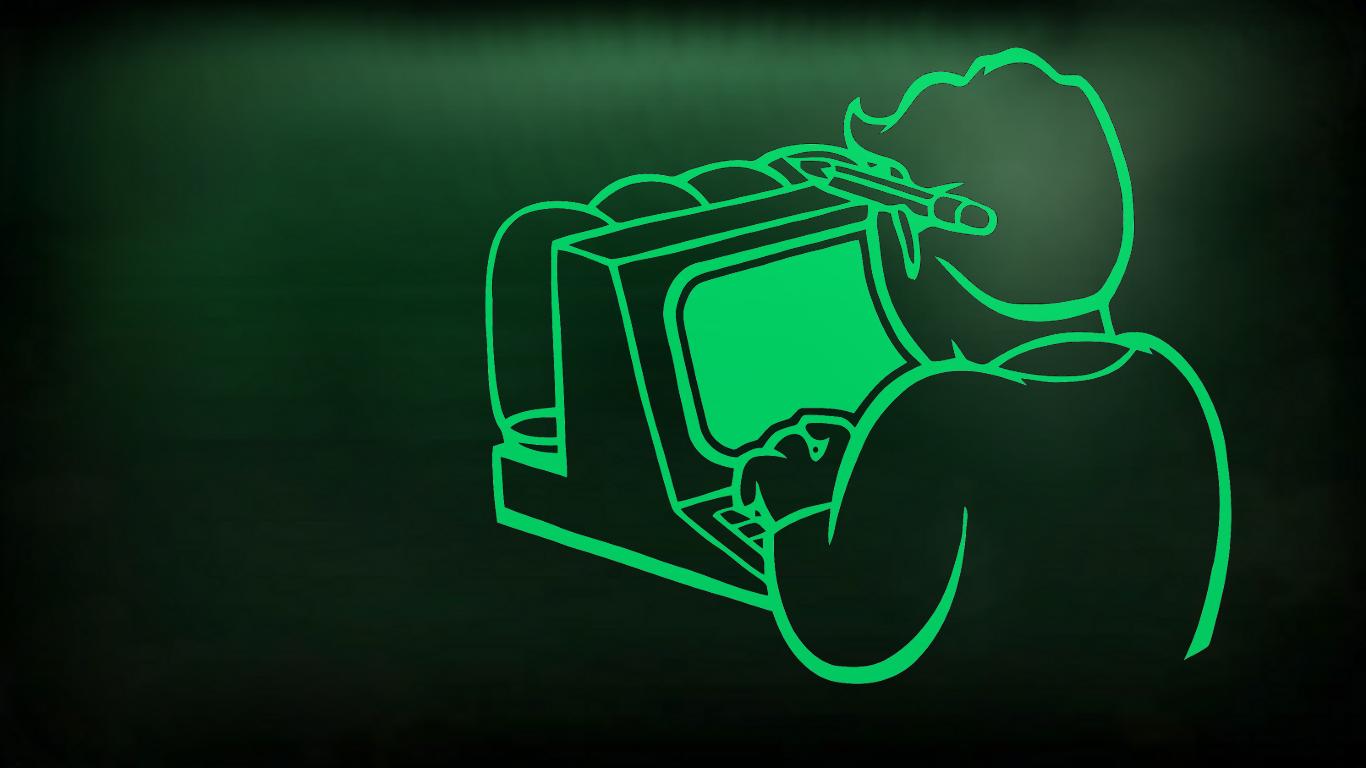 wallpaper : illustration, text, logo, green, neon sign, fallout 4