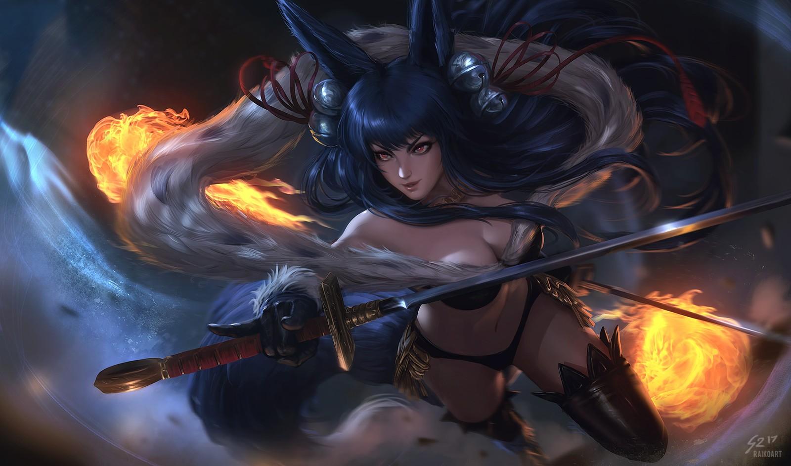 Wallpaper Magic League Of Legends Ahri League Of Legends