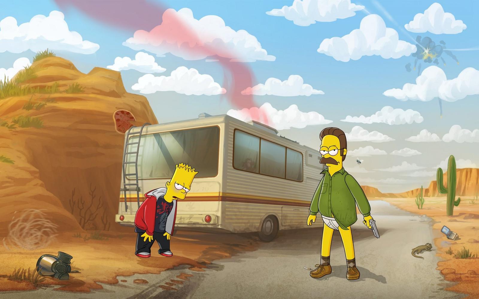 Wallpaper 1920x1200 Px Bart Simpson Breaking Bad