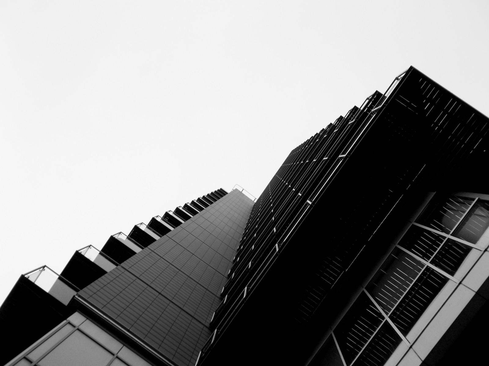 Wallpaper Black And White Building Skyscraper Monochrome