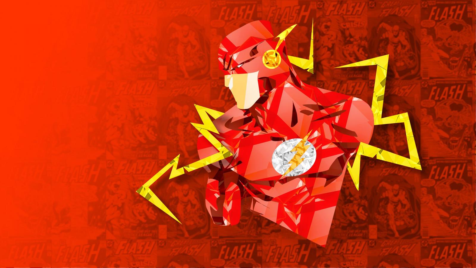 デスクトップ壁紙 図 デジタルアート 赤 Dcコミック フラッシュ