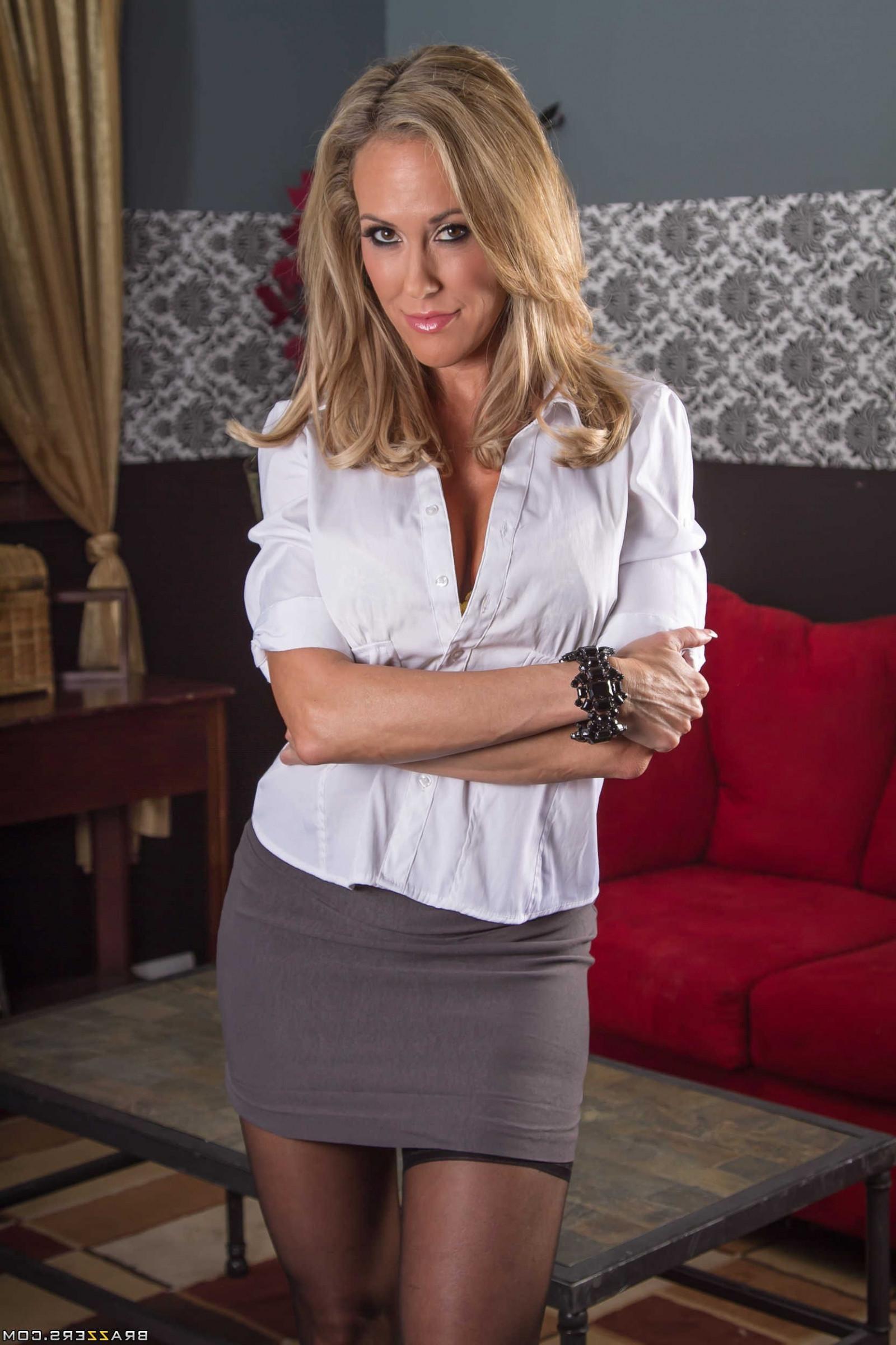Wallpaper  Model, Blonde, Long Hair, Stockings, Fashion, Miniskirt, Brazzers -8693