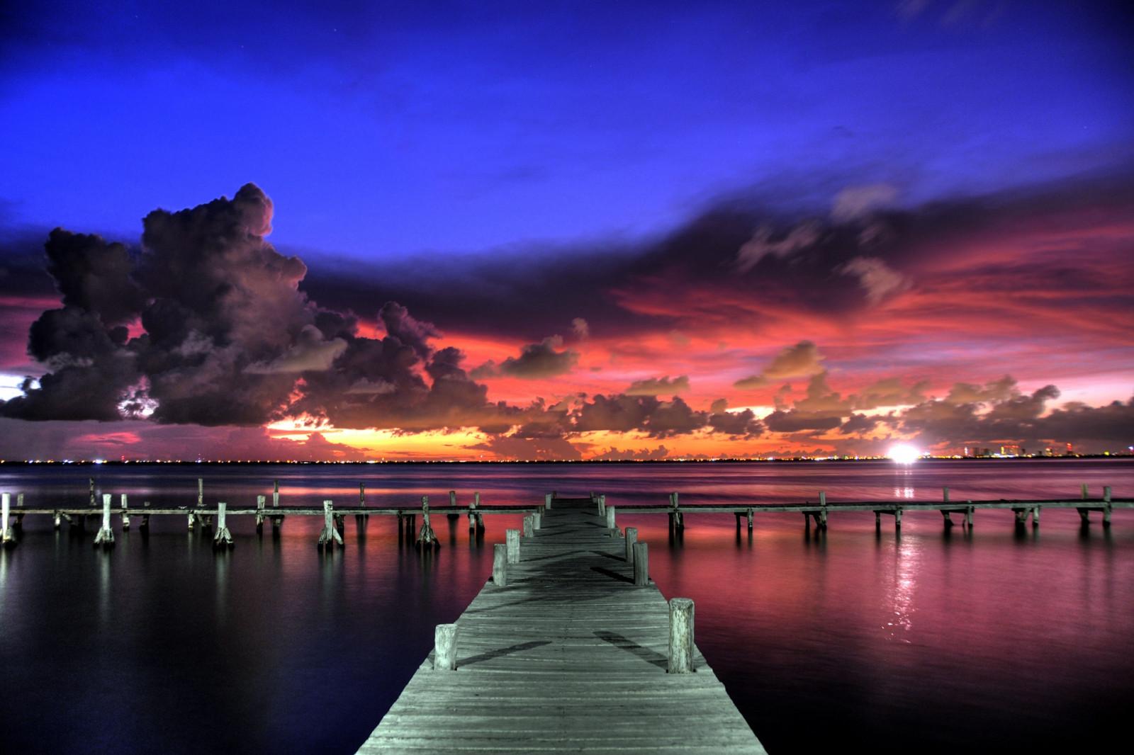 Wallpaper : matahari terbenam, pemandangan, langit, cat ...