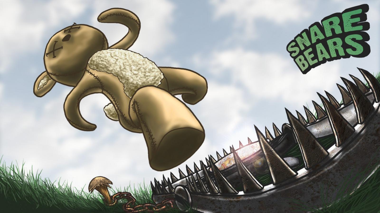 Sfondi illustrazione cartone animato animale di peluche