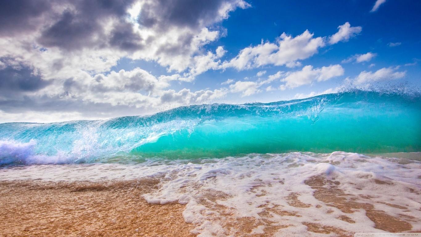 Wallpaper : laut, pantai, pasir, langit, ombak, angin, horison
