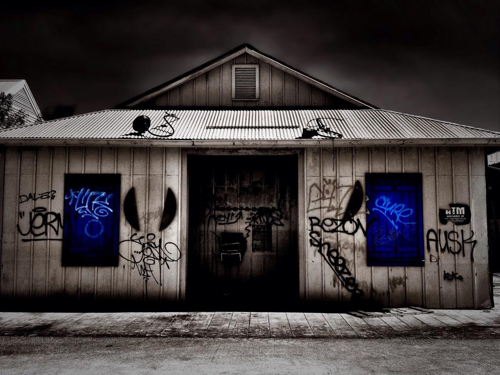 Wallpaper Window Dark Night Horror Building Abandoned Sky