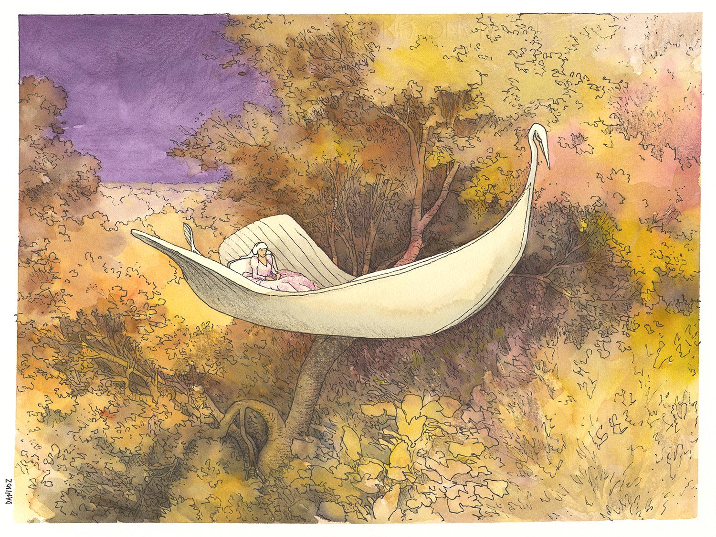 dibujo pintura ilustración princesa imaginación acuarela ART color línea fantástico bosquejo arte Moderno pintura acrilica Dibujo Daniloz Línea Indianinkpen