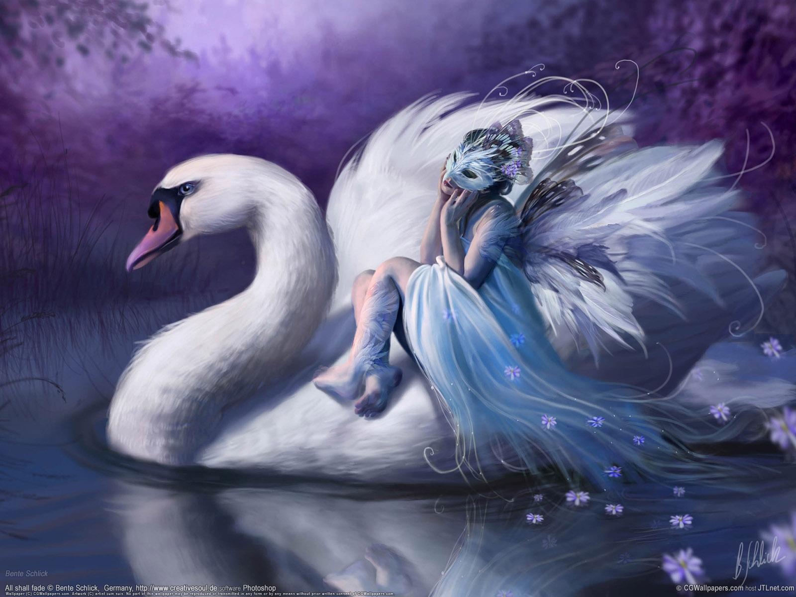 Masaüstü Boyama Göl Maske Vahşi Hayat Kuğu Mitoloji Gaga