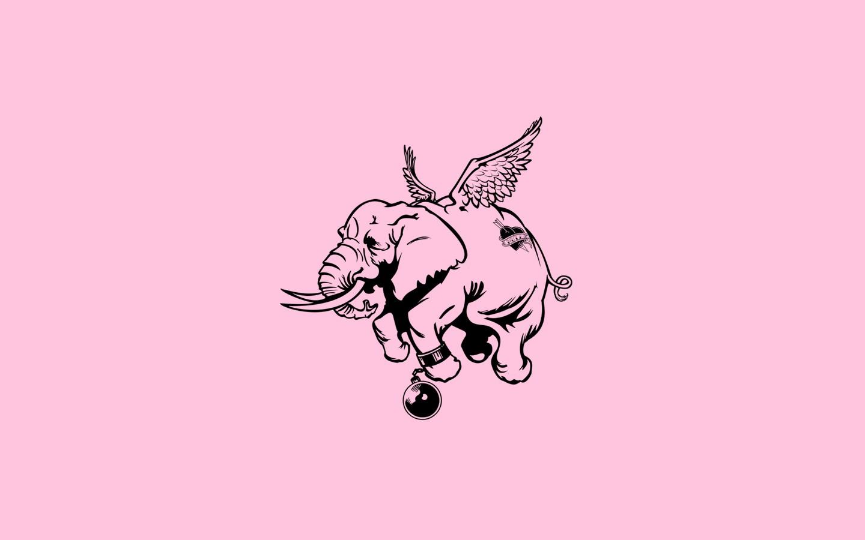 Download Wallpaper Cartoon Elephant - love_humor_elephant_minimalism-60710  Picture_503425  .jpg!d