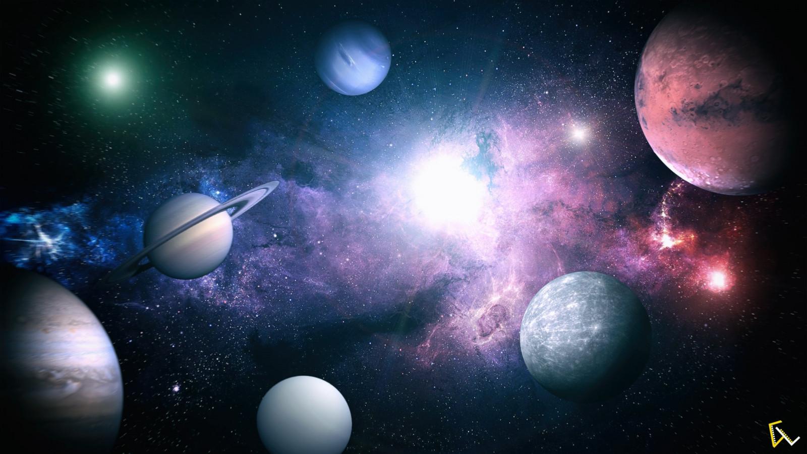 Download Wallpaper 2780x2780 Planet Galaxy Universe: Wallpaper : Lights, Photoshop, Galaxy, Planet, Atmosphere