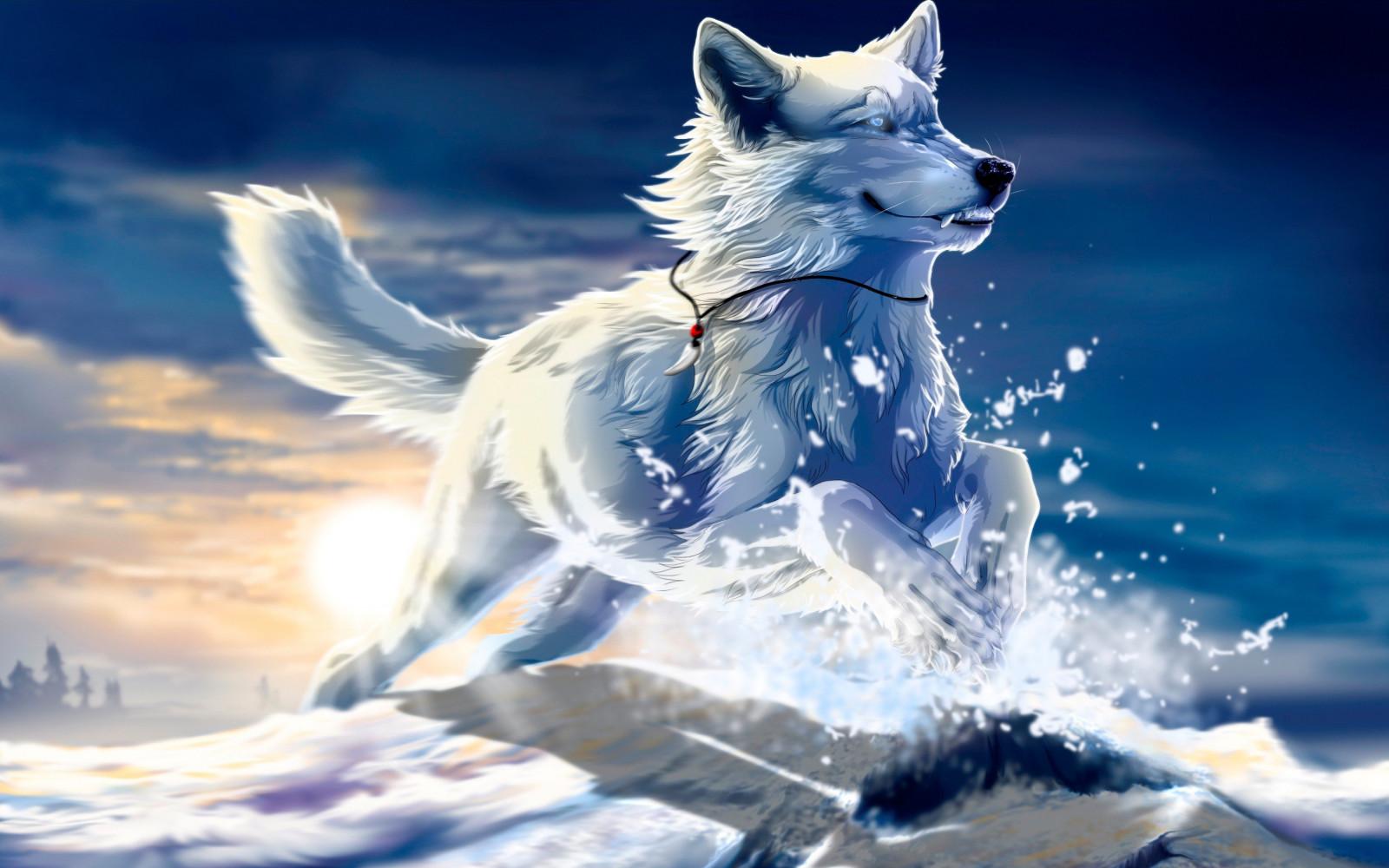 Февраля днем, картинки волки красивые фэнтези