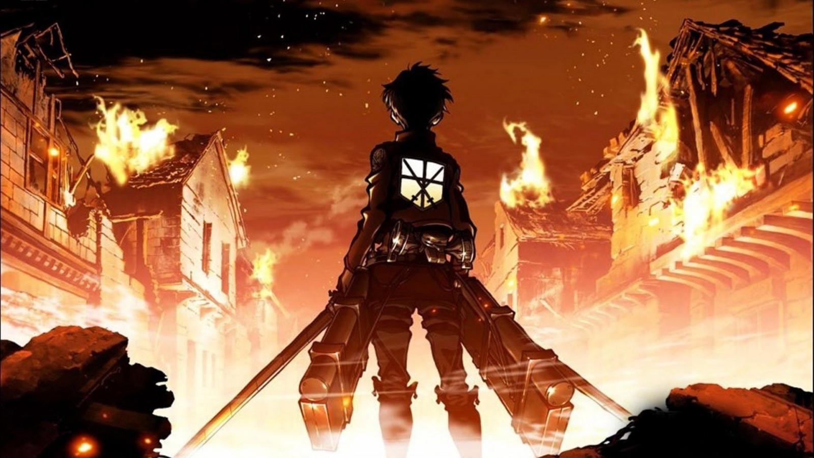 Wallpaper Anime Shingeki No Kyojin Eren Jeager Screenshot