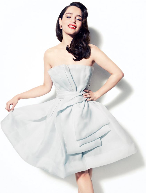 Hintergrundbilder : Frau, Kleid, Emilia Clarke, Hochzeitskleid ...