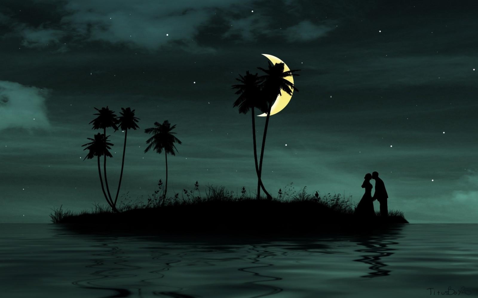 Fond d 39 cran paysage fonc mer eau amour ciel - Beautiful sad couple images ...