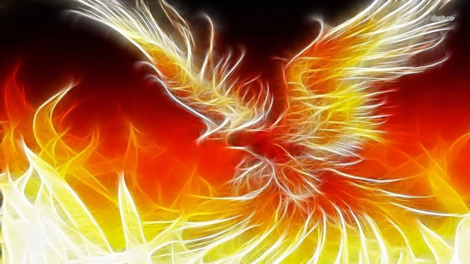 Птица феникс открытки